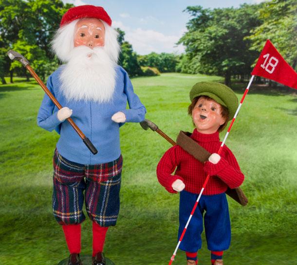Golfing Santa + Caddy